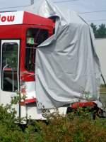 tw-144/442/tw-144-abgestellt-in-betriebshof-neu Tw 144 abgestellt in Betriebshof Neu Schmellwitz nach den Unfall am 10.04.08.