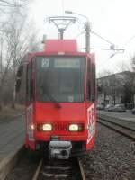 tw-168/8814/tw-168-am-230108-an-der Tw 168 am 23.01.08 an der Schleife Jessener Straße .